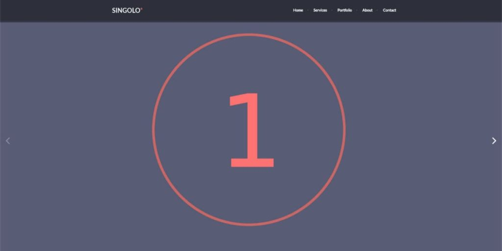 Screen Strony z PSD - Singolo