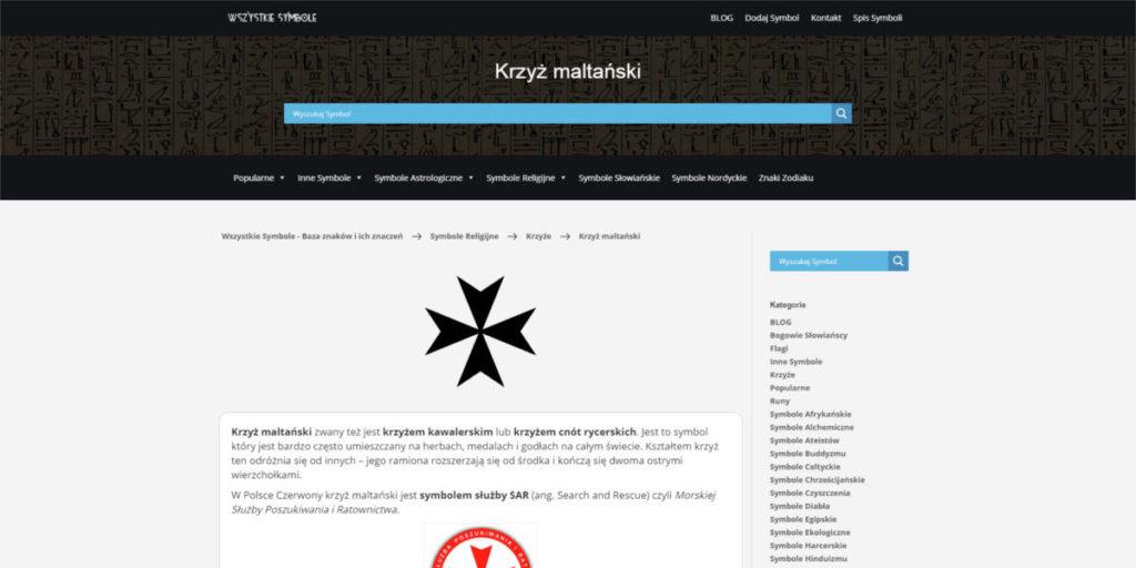 Screen Strony wszystkiesymbole.pl