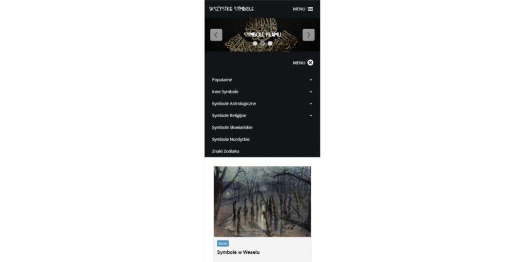 Screen Strony wszystkiesymbole.pl - Mobile